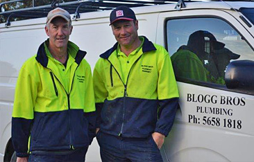 Steve and Michael Blogg, South Gippsland plumbers
